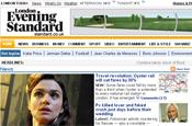 Evening Standard: website receives content from Press Association