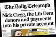 The Daily Telegraph: Clegg allegations