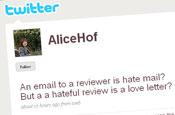 Hoffman: author retaliates on Twitter