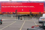 Elvis' Virgin Trains outdoor campaign
