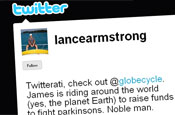 Twitter: Lance Armstrong attracts cycle fans