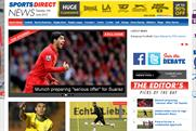 Sports Direct: rolls out sport news service