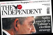 The Independent: reduced media section