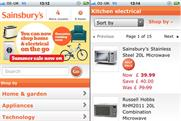 Sainsbury's: launches transactional non-grocery mobile site