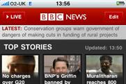 BBC holds on to top spot in BR app chart