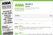 Asda: revamps Twitter page