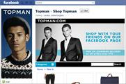 Topman: launches Facebook store
