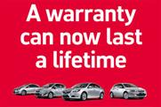 Vauxhall: latest campaign promotes lifetime warranty offer