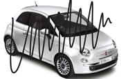 Fiat: Krow's defaced car campaign