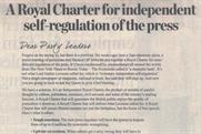Press Regulation: newspapers publish charter