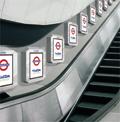 Tube: digital ads along escalators