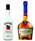 Malibu and Courvoisier: two of Allied Domecq's brands