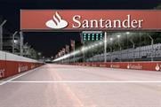 The video shows a simulated Grand Prix in London