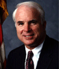 Sen John McCain: giving lecture in honour of Alistair Cooke