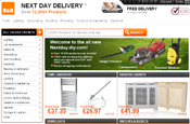 B&Q: next day delivery service
