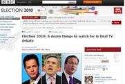 Leaders' election debate on the BBC website