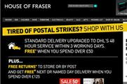 House of Fraser drops Royal Mail