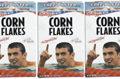 Kellogg's: using Phelps' image  to endorse Corn Flakes