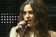 Eliza Doolittle: singing at the Coca-Cola Future Flames launch at London's Westfield