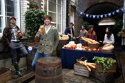 Alex James led the French celebrations in Farringdon