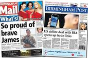 Trinity's flagship Midlands newspapers Birmingham Post and Birmingham Mail