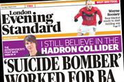 London Evening Standard: posts average net circulation