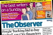 The Observer: leads the Sunday downturn