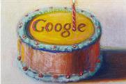 Twelve today: Google marks birthday with cake image