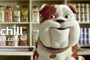 Churchill: takes on shopkeeper role in latest campaign