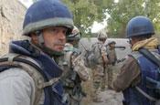 Kemp: filming in Afghanistan for Sky1