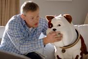 Churchill: parting company with Martin Clunes