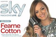 Sky Magazine: tops circulation table
