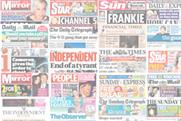 National newspaper ABC figures for January 2012