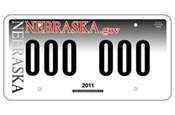 Nebraska: the winning licence plate