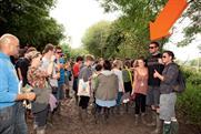 "Orange's ""Appy Man"" at Glastonbury Festival"