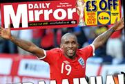 Daily Mirror: celebrates England triumph