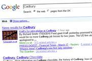 Kraft: forced to Google Cadbury