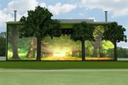 The main stage will feature a backdrop of trees
