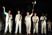 The national flames combined to make the Paralympic Flame