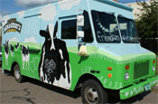 Ben and Jerry's: hands out ice-cream from branded van