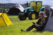 EE soups up Glastonbury tractor to create 'slowest fastest' 4G hotspot