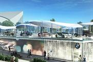 BMW: unveils Olympic Pavilion