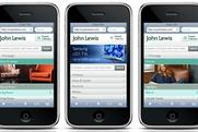 John Lewis: launches mobile site