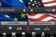 Ryder Cup: app tops BR's chart
