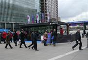 Delta Airlines is showcasing its service to Canary Wharf bankers at the Delta Pavilion this week