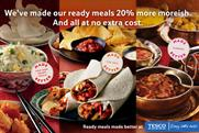 Tesco: revamps its ready meals range
