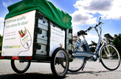 Waitrose: trialling new grocery carts for bicycles