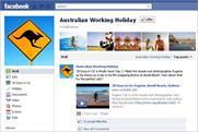Tourism Australia: kicks off Facebook push