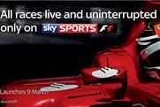 Sky Sports: Formula 1channel launches in March
