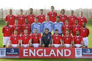 England team: sponsored by Nationwide